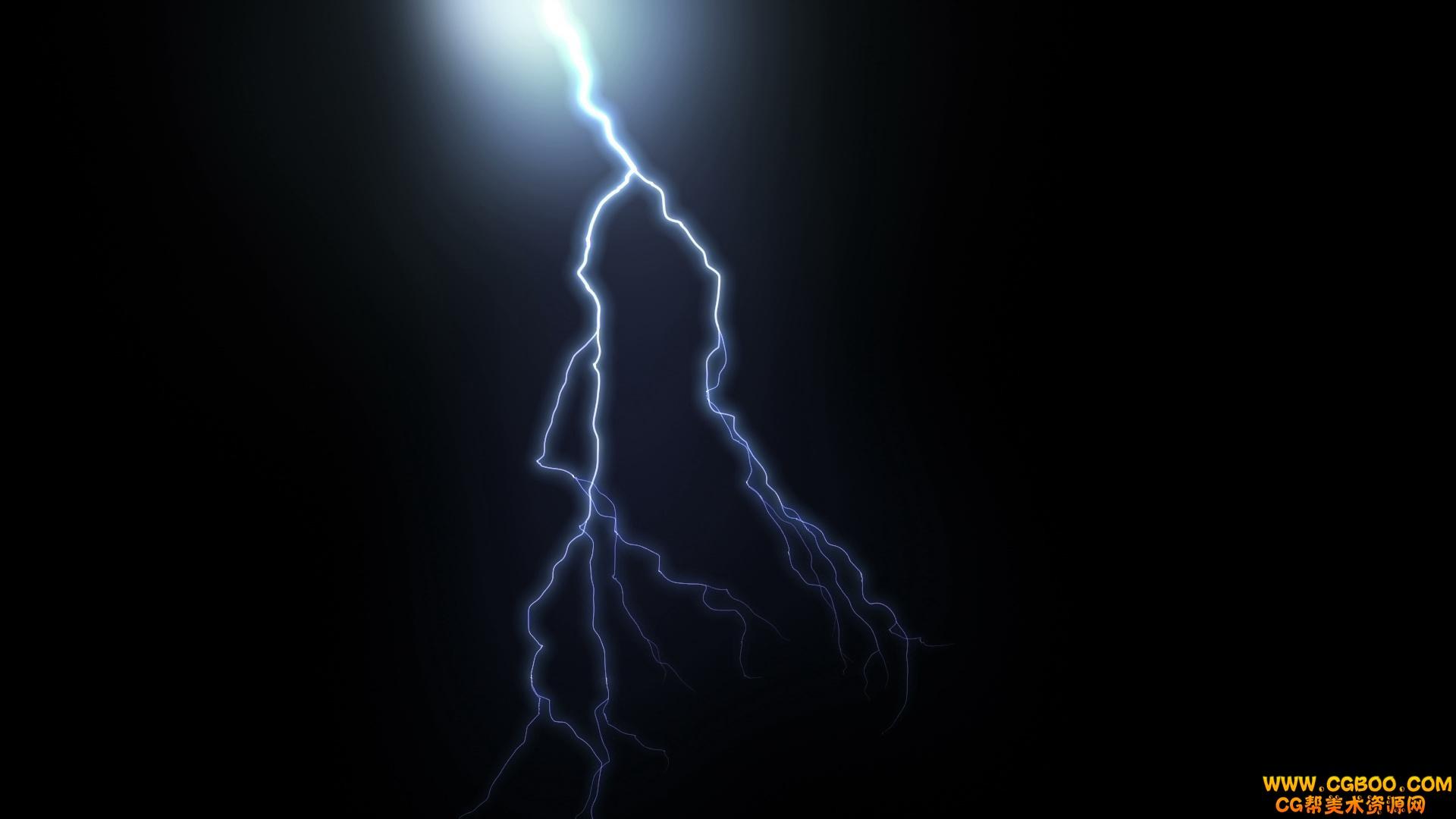 闪电暴雨logo演绎动画ae模板
