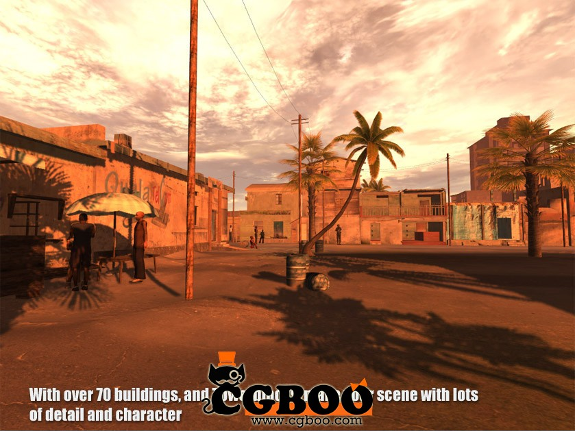 unity3d 游戏场景模型