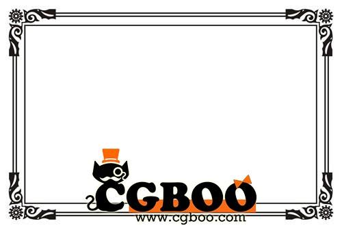 精美边框素材包贴图素材cg帮美术资源网