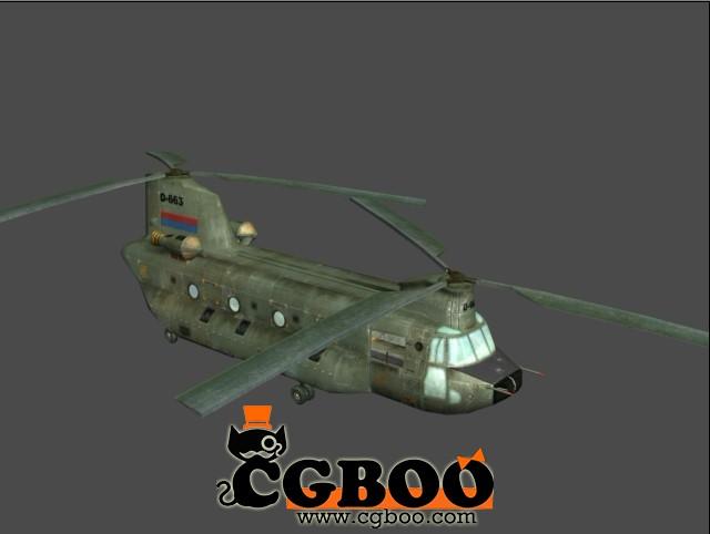 双螺旋桨直升机军用直升机模型免费