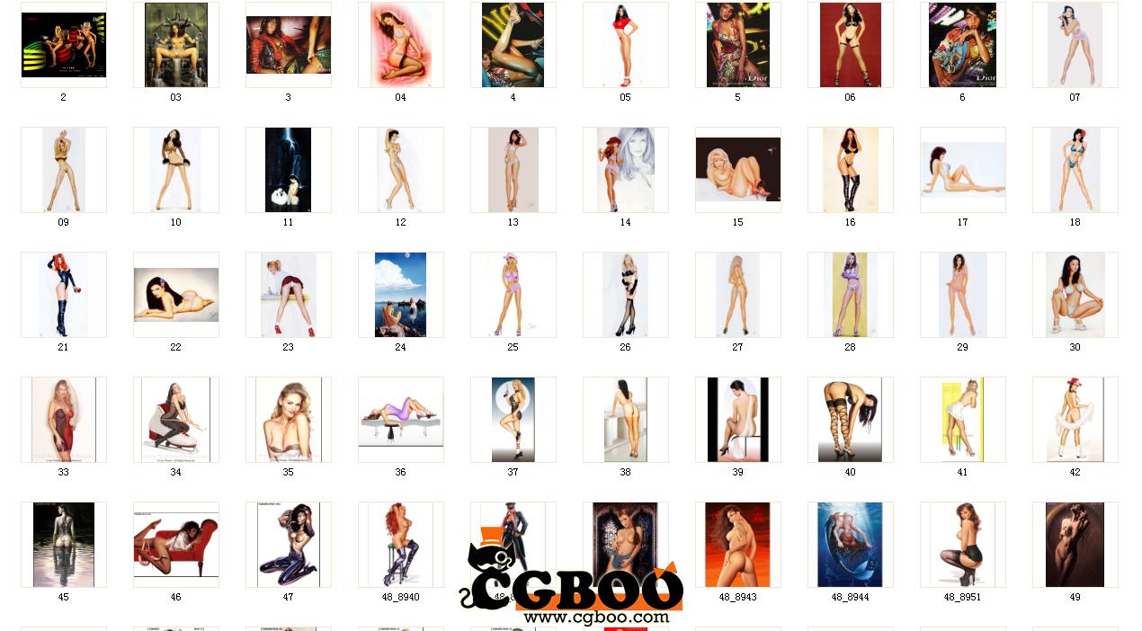 贴图素材-女人体参考素材免费下载贴图素材cg帮美术
