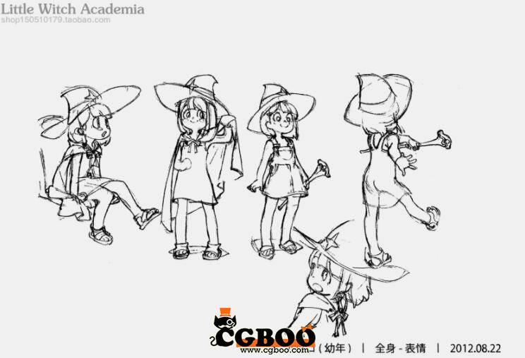 【原画资源】小魔女学园 人物三视图 官方线稿高清设计资源11.jpg