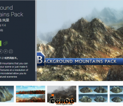 Unity山地模型-Background Mountains Pack