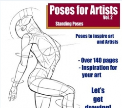 Poses for Artists vol 1 Standing Poses - cover