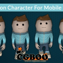 164 unity3d 游戏模型 Cartoon Character For Mobile Game 卡通人物手机版