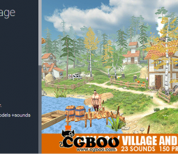 【U3D模型】unity3d卡通村庄和森林模型Low Poly Village and Forest 1.5