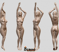 Cubebrush - Sexy female model 3D print