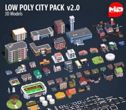Low Poly City Pack 2 Low-poly 3D模型